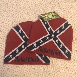 1c623a80061 Accessories -  LAST ONE  Rebel Chick Flag Beanie Hat NWT OS